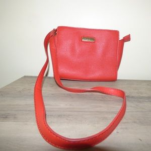 Marc Fisher Day by Day Top Zip Mini Crossbody Red